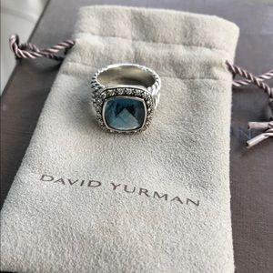 David Yurman Albion Ring Petite with Topaz Size 6